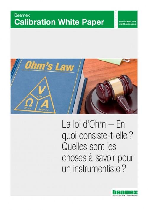La loi d'Ohm et l'instrumentation