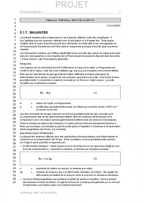 Projet de chapitre 217 de la PE
